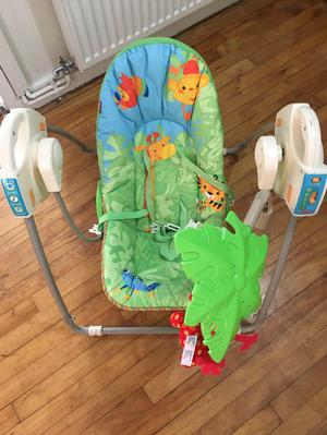 Fisher price baby swing jungle rocker with batteries