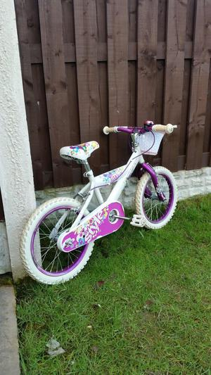 """Girls 16"""" huffy bike like new can deliver"""