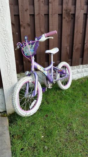 "Girls 16"" princess bike can deliver"