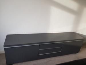 Lovely Gloss Grey TV unit/bench!!!!