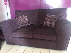 Plum sofa with cushions like new for sale. in Bridgwater