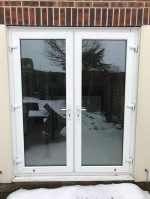 White Double Glazed Upvc French Doors In Reading Posot Class