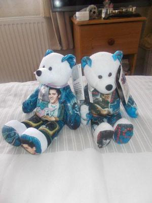 ELVIS PRESLEY  AND ELVIS ON TV BEANIEWITH LABELS ON