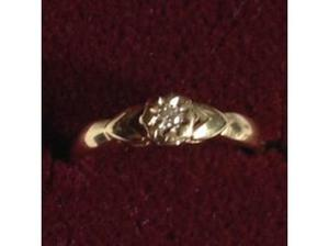Ladies 9ct Gold Diamond Solitaire Ring 0.30ct in Wells
