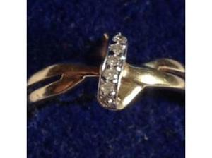 Ladies Jewellery 9ct Gold Diamond Engagement Ring Fully