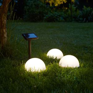 Luxform Solar LED Floor Lights Clervaux 3 pcs White