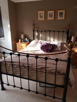 Metal double Bed frame.