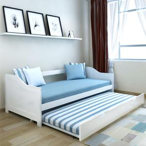 vidaXL Pull Out Sofa Bed/Day Bed Pine Wood White 200x90 cm