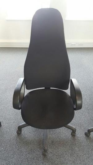 4 used diffrent type of leather office chairs all in good condition