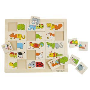 Beleduc Animals Match & Mix Puzzle