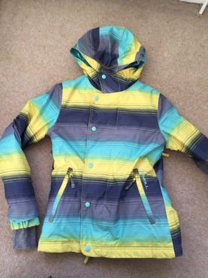 Girls age 12 O'Neill ski jacket yellow grey and aqua £