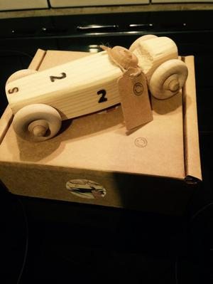 Hand made wooden toy cars