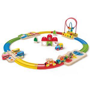 Hape Rainbow Route Railway and Station Set E