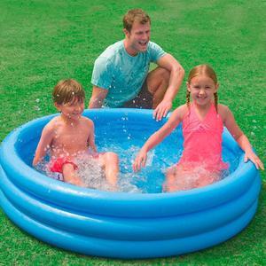 Intex Inflatable Crystal Blue Ring Paddling Swimming Kids