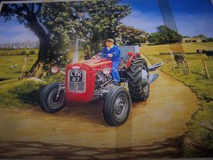 JR 500 Piece Jigsaw Puzzle Red Ferguson FE35 by Trevor