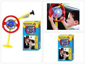 KIDS STEERING WHEEL TOY Drive Electronic Backseat Car