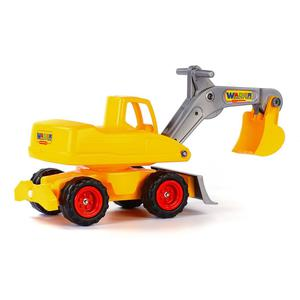 Polesie Wader Ride-on Excavator Mega Yellow