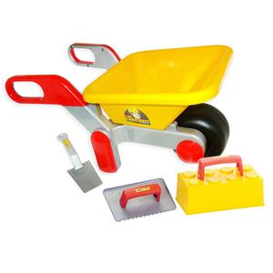 Polesie Wader Wheelbarrow with Tools 64x34x32.5 cm Yellow