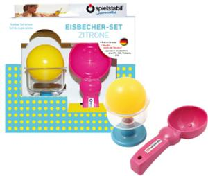 Spielstabil Ice Cream Cone Set with Ice Ball Lemon Children