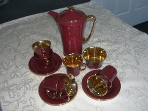 Vintage Art Deco 15 piece coffee set
