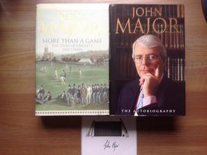 2 JOHN MAJOR BOOKS and signed card