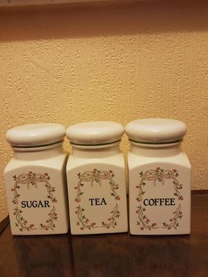 Eternal Beau sugar tea coffee containers