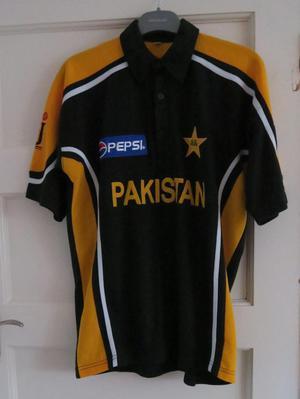 NEW Mens Pakistan Cricket Top Sports Jersey Pepsi Polo Shirt