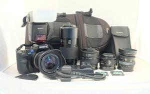 Sony A700 Digital Camera + 5 Quality Autofocus Lenses & Sony Flashgun + Accessories