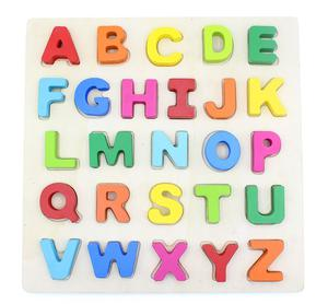 Wooden Chunky Alphabet Puzzle Board