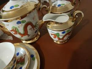 tea set full... chinese dragon pattern