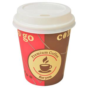 vidaXL Disposable Coffee Cups with Lids  pcs 8 oz