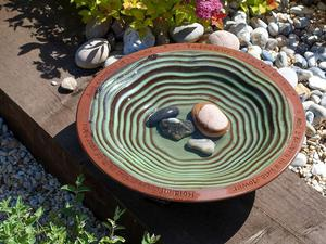 Bird Bath Garden Deco Ceramic Bird Feeder Gift Bird Watcher