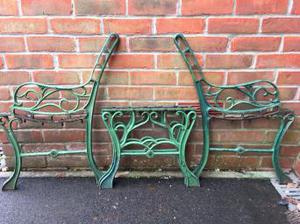 Garden Bench ends and coffee table matching set