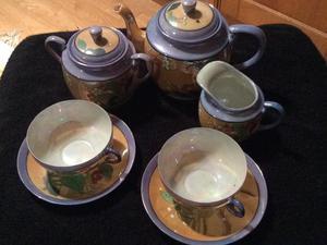 Retro Fine china Teapot Set