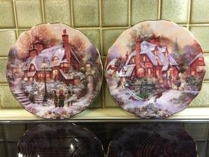 """Royal Doulton Christmas plates - TWO -  - Immaculate condition 8"""" diameter"""