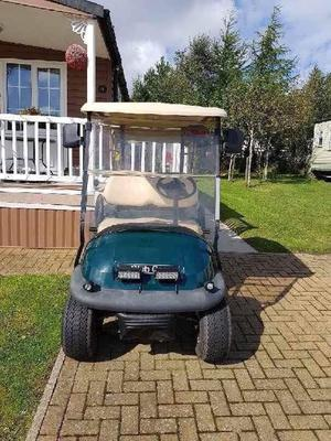 Two seater electric club car golf buggy