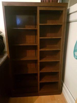 5 tier wooden display cabinet