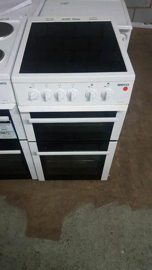 BEKO 50CM WIDE CERAMIC TOP ELECTRIC COOKER WITH 3 MONTHS GUARANTEE