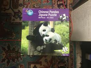 Chinese pandas puzzle 500 pieces VGC