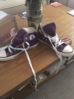 Converse high tops purple brand new size uk 4