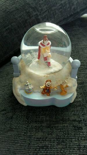 Disney beauty and the beast snowglobe