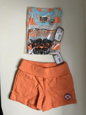 Girls Converse Vest Top and Shorts SET age 6-7 years NEW