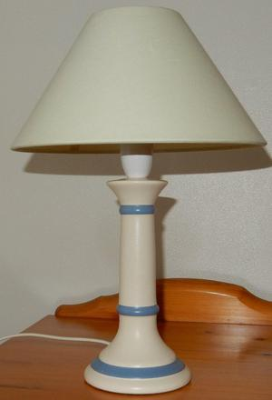 Pair of ceramic bedside lamps