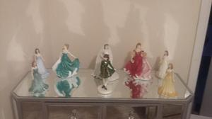 Royal doulton figurines with boxes perfect condition