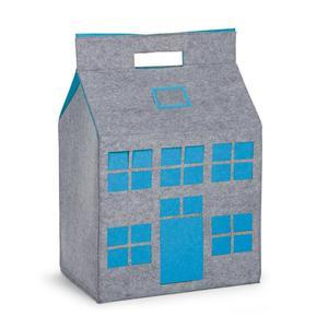 CHILDWOOD Toy Storage Box Grey and Turquoise 50x35x72 cm
