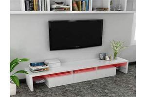 High gloss 3 drawer floor standing tv stand