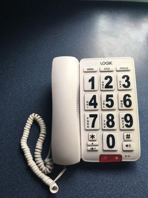 Logic cordless big button telephone
