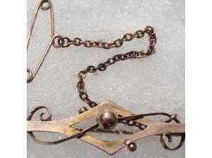Ladies Jewelery 9ct Gold Antique Victorian Brooch Fully