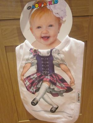 UNWANTED PRESENT - Just Add A Kid girl's Bib - Large Size