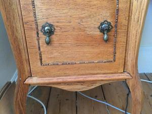 Wooden filing cabinet (possibly vinyl records?)